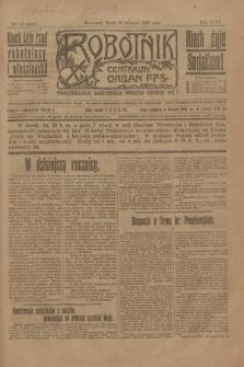 Robotnik : centralny organ P.P.S. R.26, nr 28 (28 stycznia 1920) = nr 816