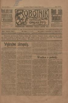 Robotnik : centralny organ P.P.S. R.26, nr 36 (6 lutego 1920) = nr 824