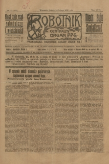 Robotnik : centralny organ P.P.S. R.26, nr 44 (14 lutego 1920) = nr 832