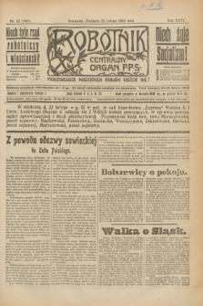Robotnik : centralny organ P.P.S. R.26, nr 52 (22 lutego 1920) = nr 840