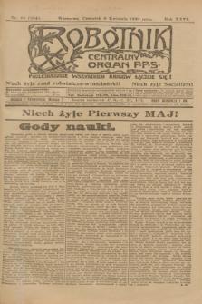 Robotnik : centralny organ P.P.S. R.26, nr 96 (8 kwietnia 1920) = nr 884