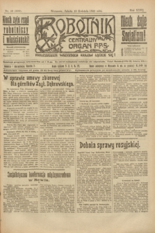 Robotnik : centralny organ P.P.S. R.26, nr 98 (10 kwietnia 1920) = nr 886