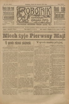 Robotnik : centralny organ P.P.S. R.26, nr 116 (28 kwietnia 1920) = nr 904