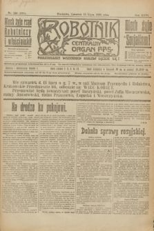 Robotnik : centralny organ P.P.S. R.26, nr 190 (15 lipca 1920) = nr 978
