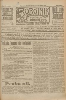 Robotnik : centralny organ P.P.S. R.26, nr 277 (10 października 1920) = nr 1064