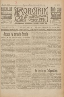 Robotnik : centralny organ P.P.S. R.26, nr 305 (9 listopada 1920) = nr 1092