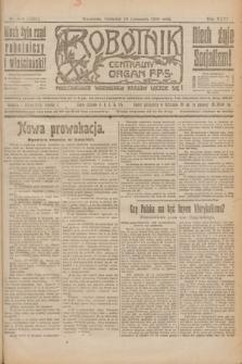 Robotnik : centralny organ P.P.S. R.26, nr 314 (18 listopada 1920) = nr 1101