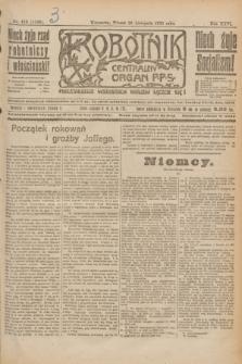 Robotnik : centralny organ P.P.S. R.26, nr 319 (23 listopada 1920) = nr 1106