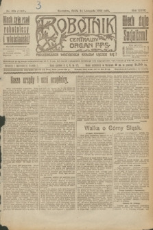 Robotnik : centralny organ P.P.S. R.26, nr 320 (24 listopada 1920) = nr 1107