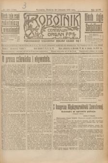 Robotnik : centralny organ P.P.S. R.26, nr 324 (28 listopada 1920) = nr 1111