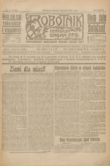 Robotnik : centralny organ P.P.S. R.27, nr 4 (5 stycznia 1921) = nr 1146