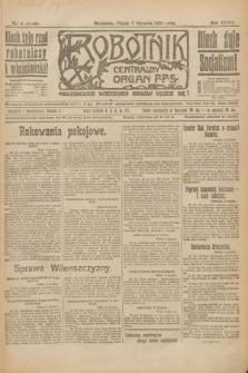 Robotnik : centralny organ P.P.S. R.27, nr 6 (7 stycznia 1921) = nr 1148