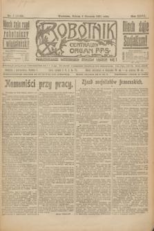 Robotnik : centralny organ P.P.S. R.27, nr 7 (8 stycznia 1921) = nr 1149
