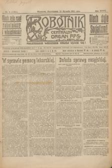 Robotnik : centralny organ P.P.S. R.27, nr 9 (10 stycznia 1921) = nr 1151