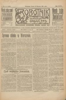 Robotnik : centralny organ P.P.S. R.27, nr 11 (12 stycznia 1921) = nr 1153