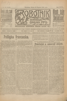 Robotnik : centralny organ P.P.S. R.27, nr 14 (15 stycznia 1921) = nr 1156