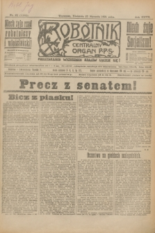 Robotnik : centralny organ P.P.S. R.27, nr 22 (23 stycznia 1921) = nr 1164