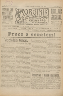 Robotnik : centralny organ P.P.S. R.27, nr 24 (25 stycznia 1921) = nr 1166