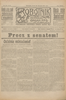 Robotnik : centralny organ P.P.S. R.27, nr 25 (26 stycznia 1921) = nr 1167