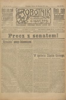 Robotnik : centralny organ P.P.S. R.27, nr 28 (29 stycznia 1921) = nr 1170