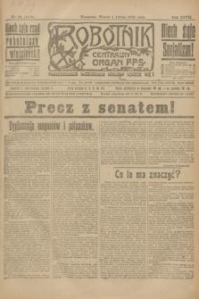 Robotnik : centralny organ P.P.S. R.27, nr 31 (1 lutego 1921) = nr 1173