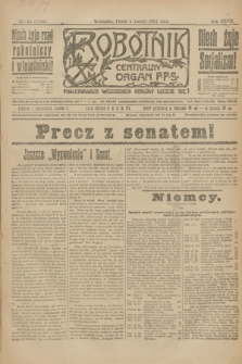 Robotnik : centralny organ P.P.S. R.27, nr 34 (4 lutego 1921) = nr 1176