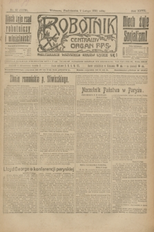 Robotnik : centralny organ P.P.S. R.27, nr 37 (7 lutego 1921) = nr 1179