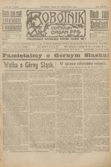 Robotnik : centralny organ P.P.S. R.27, nr 48 (18 lutego 1921) = nr 1190