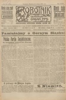Robotnik : centralny organ P.P.S. R.27, nr 50 (20 lutego 1921) = nr 1192