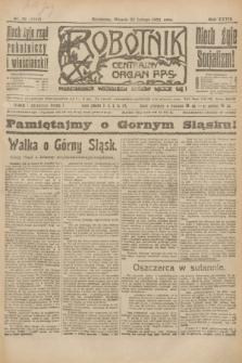 Robotnik : centralny organ P.P.S. R.27, nr 52 (22 lutego 1921) = nr 1194