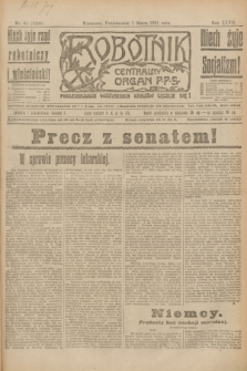 Robotnik : centralny organ P.P.S. R.27, nr 61 (7 marca 1921) = nr 1203