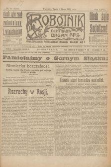 Robotnik : centralny organ P.P.S. R.27, nr 63 (9 marca 1921) = nr 1205