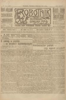 Robotnik : centralny organ P.P.S. R.27, nr 86 (3 kwietnia 1921) = nr 1228