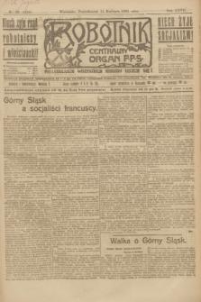 Robotnik : centralny organ P.P.S. R.27, nr 93 (11 kwietnia 1921) = nr 1235