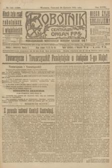 Robotnik : centralny organ P.P.S. R.27, nr 110 (28 kwietnia 1921) = nr 1232