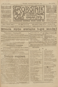 Robotnik : centralny organ P.P.S. R.27, nr 113 (1 maja 1921) = nr 1235