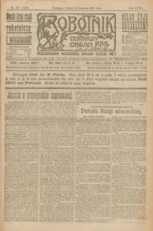 Robotnik : centralny organ P.P.S. R.27, nr 167 (25 czerwca 1921) = nr 1289