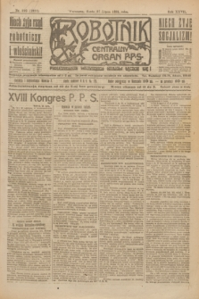 Robotnik : centralny organ P.P.S. R.27, nr 199 (27 lipca 1921) = nr 1321