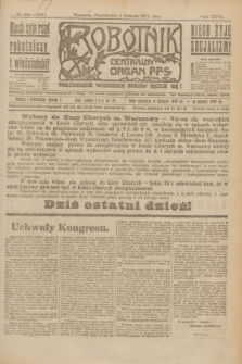 Robotnik : centralny organ P.P.S. R.27, nr 204 (1 sierpnia 1921) = nr 1326
