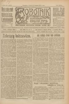 Robotnik : centralny organ P.P.S. R.27, nr 215 (12 sierpnia 1921) = nr 1337