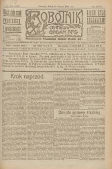 Robotnik : centralny organ P.P.S. R.27, nr 221 (19 sierpnia 1921) = nr 1343