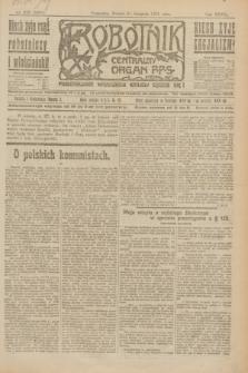 Robotnik : centralny organ P.P.S. R.27, nr 229 (27 sierpnia 1921) = nr 1351