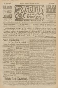 Robotnik : centralny organ P.P.S. R.27, nr 243 (10 września 1921) = nr 1365