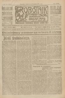 Robotnik : centralny organ P.P.S. R.27, nr 244 (11 września 1921) = nr 1366