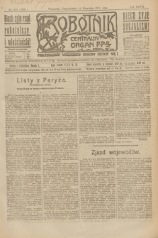 Robotnik : centralny organ P.P.S. R.27, nr 245 (12 września 1921) = nr 1367
