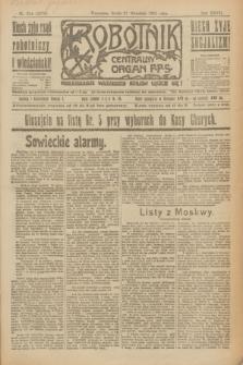 Robotnik : centralny organ P.P.S. R.27, nr 254 (21 września 1921) = nr 1376