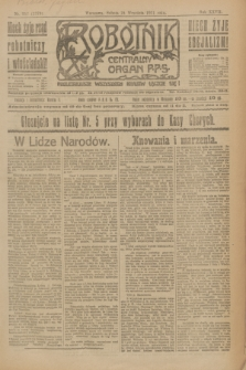 Robotnik : centralny organ P.P.S. R.27, nr 257 (24 września 1921) = nr 1379