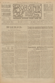 Robotnik : centralny organ P.P.S. R.27, nr 259 (26 września 1921) = nr 1381