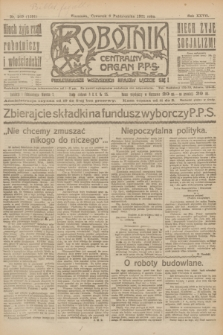 Robotnik : centralny organ P.P.S. R.27, nr 269 (6 października 1921) = nr 1391