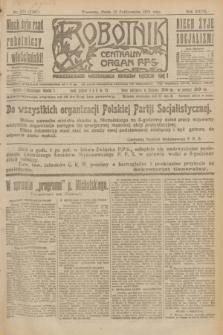Robotnik : centralny organ P.P.S. R.27, nr 275 (12 października 1921) = nr 1397